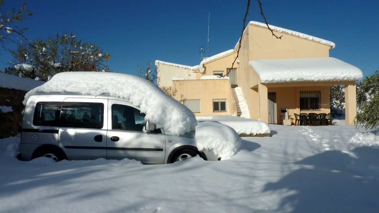 Otra nevada en Penàguila