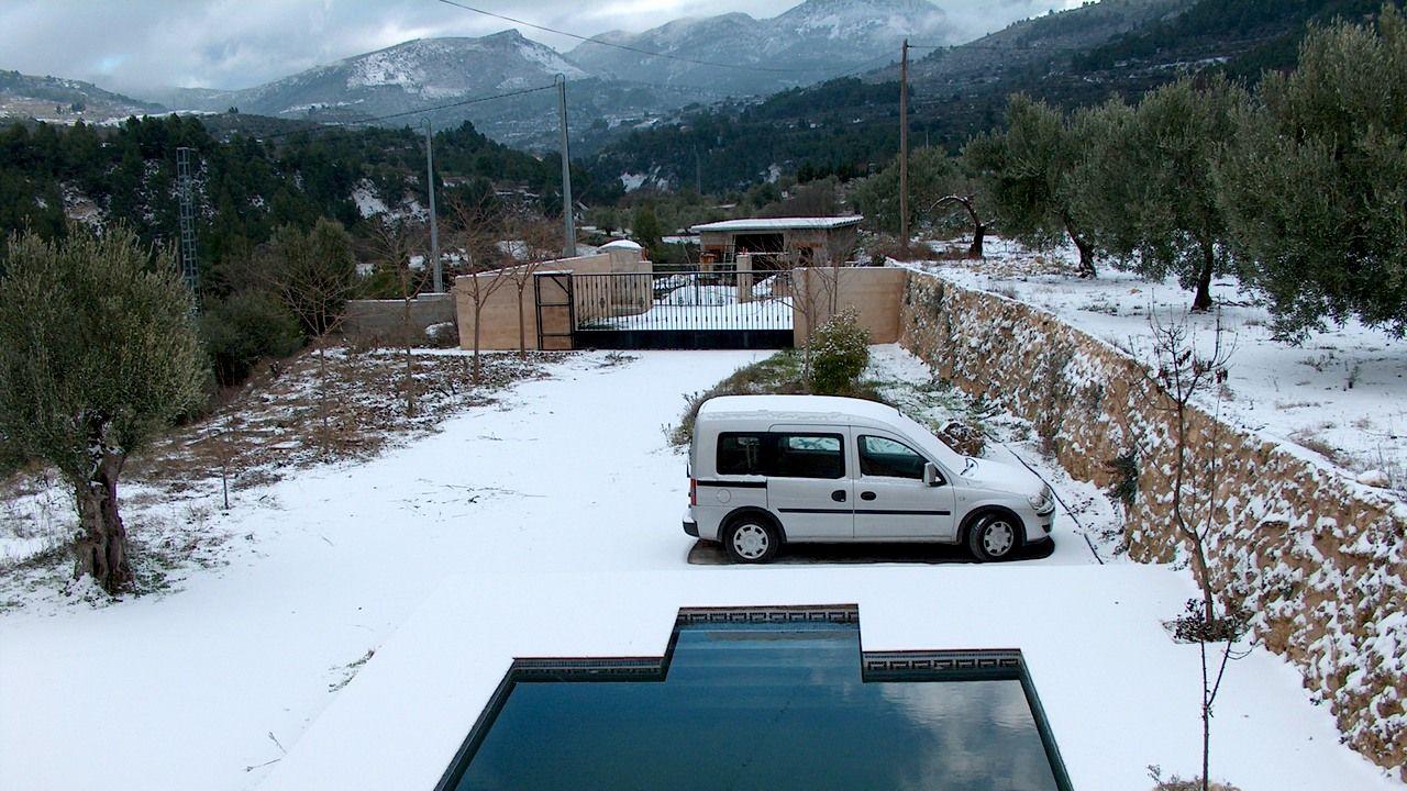 Un poco de nieve