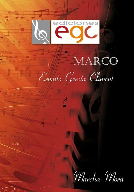 Ernesto García Climent. Portada partitura Marco