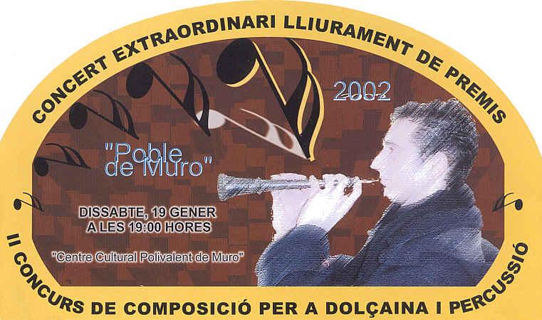 La Xafigà. II Concurs de Composició per a Dolçaina 2002