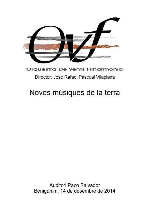 Orquestra de Vents Filharmonia - Noves Músiquesde la Terra
