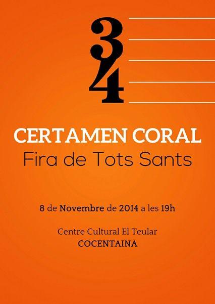 XXXIV Certamen Coral Fira de Tots Sants de Cocentaina